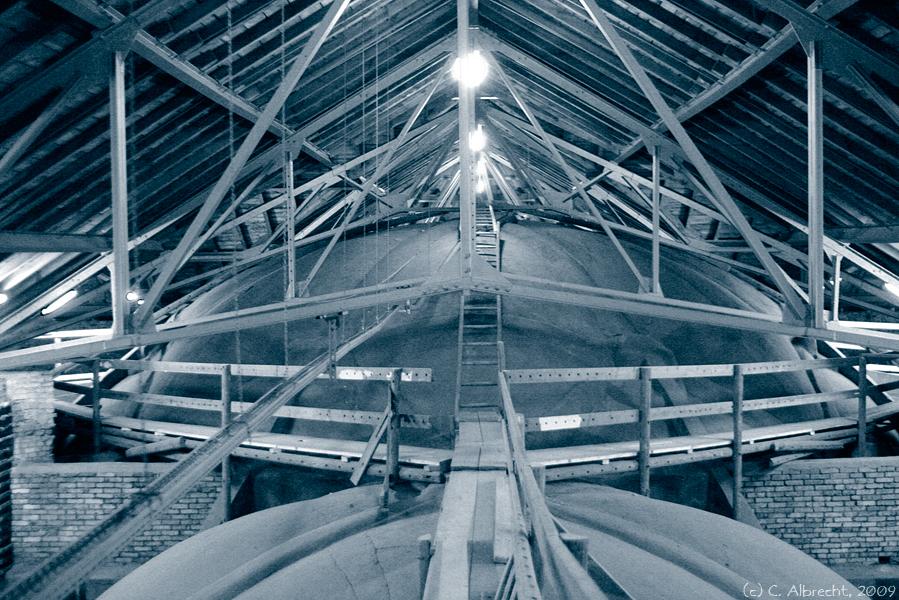 Dachkonstruktion der Zionskirche Berlin