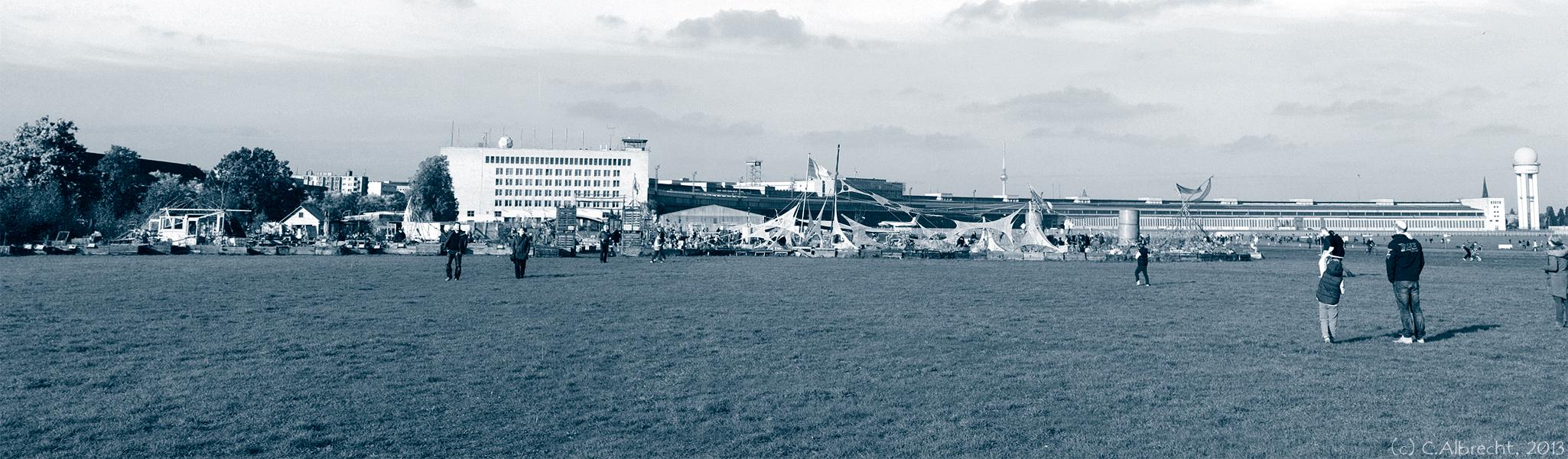 Erste Eindrücke vom westlichen Tempelhofer Feld