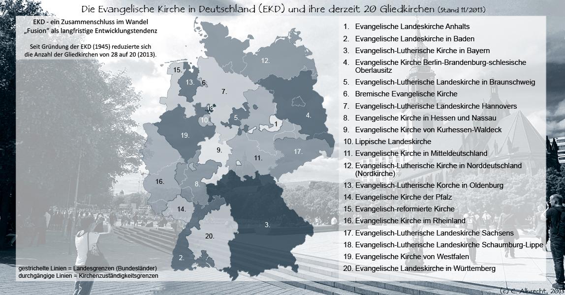 Die Mitgliedskirchen der EKD (regional churches of the Evangelical Church in Germany), 11/2013