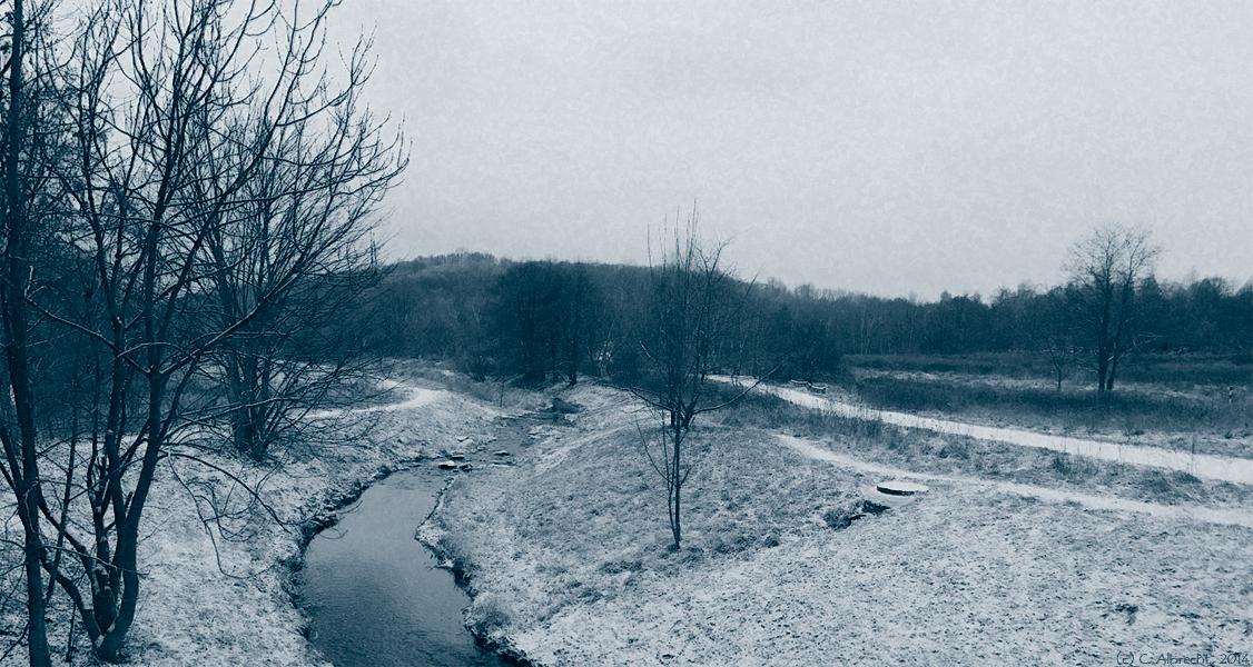 Die Wuhle südlich des U-Bhf. Wuhletal
