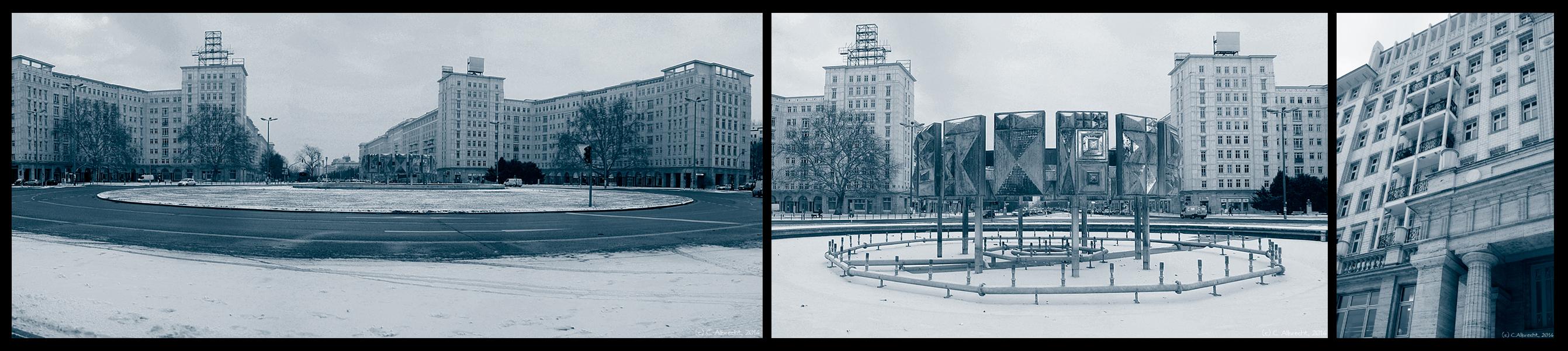 """""""sozialistischer"""" Stadtraum Strausberger Platz/Stalinallee"""
