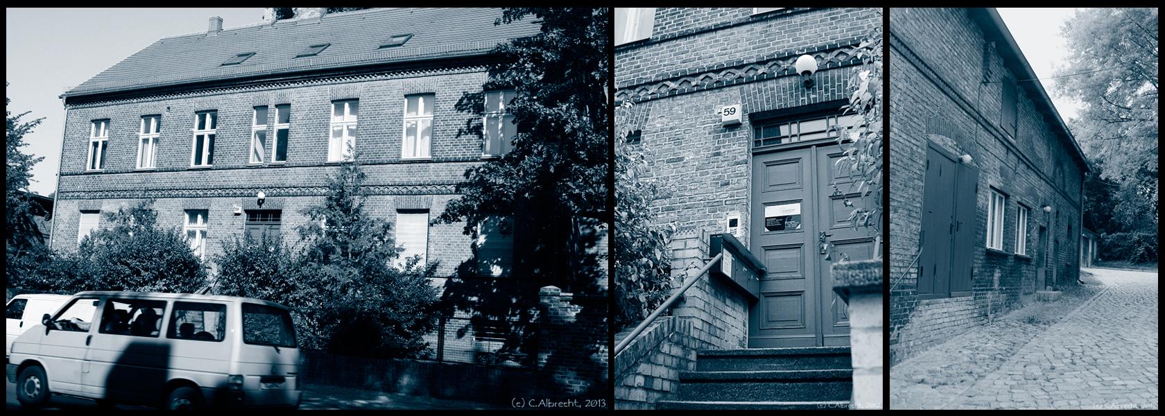 Pfarrhaus und Nebengebäude der Ev. Versöhnungskirchengemeinde Berlin-Biesdorf (ehemals Pfarrerwohnort  - heute Gemeindebüro, Mietwohnen und Versammlungsräume)