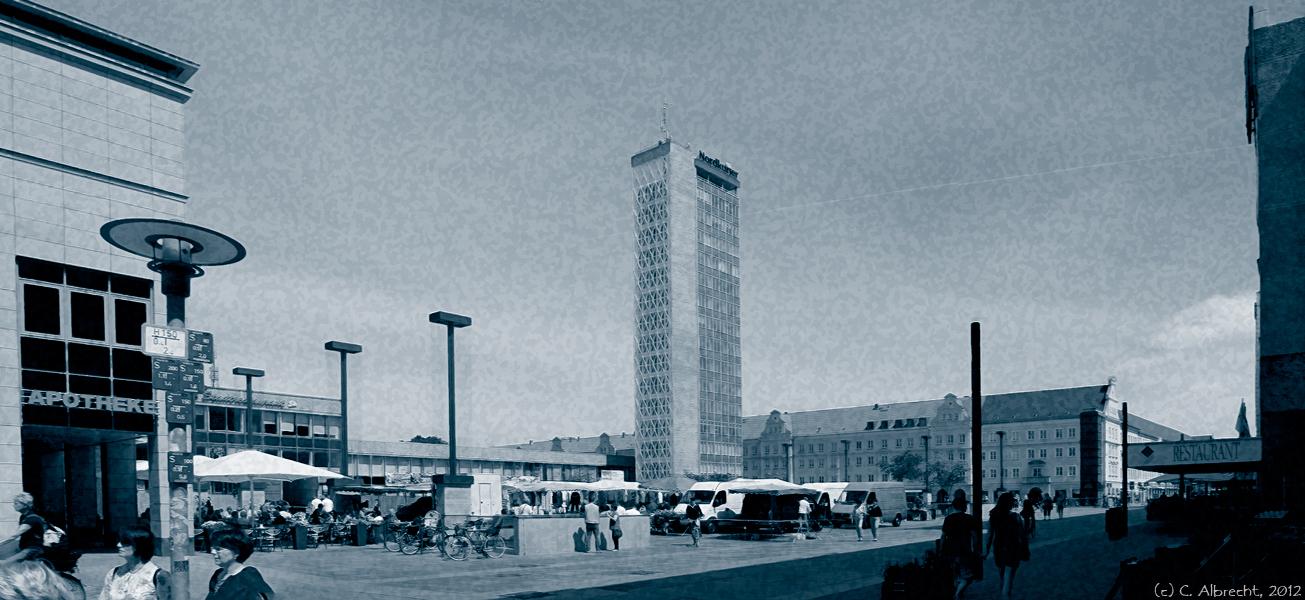 Neubrandenburg (Mecklenburg Vorpommern) - Innenstadt als Marktplatz
